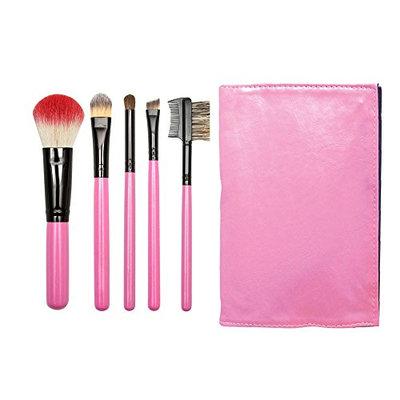 Beauty Pro Series 5 pc Folder Brush Set Pink