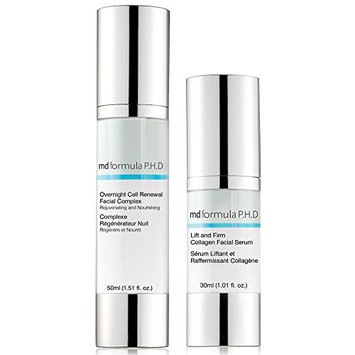 Skin Pharmacy Lift and Firm Collagen Facial Serum and Overnight Cell Renewal Facial Complex