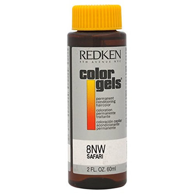Redken Color Gels Permanent Conditioning 8NW Safari Hair Color for Unisex