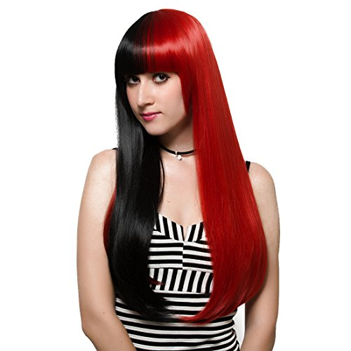 Mix Red and Black Wig