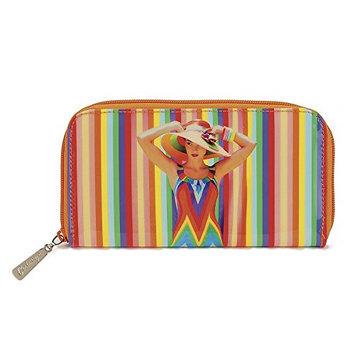 Catseye Rainbow Woman Cosmetic Zip Wallet
