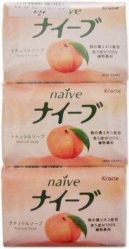 KRACIE Naive Bar Soap Peach 3p