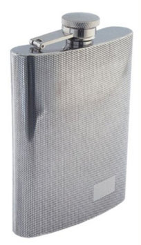 Colonel Conk Sunstar Model 509 Rimless Flask with Diamond Pattern and Mirror Finish