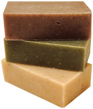 Orange Muslin Natural Soaps with Essential Oils Shea Honey Oatmeal