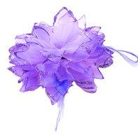 Uxcell Rubber Flower Bling Women Hair Band Ponytail Holder