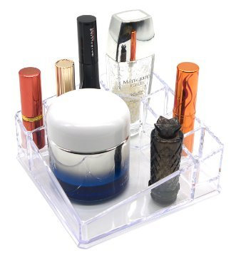 PuTwo Lipstick Holder 8 Sections Makeup Square Desk Organizer Lipstick Organizer Cosmetic Organizer