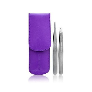 Tweezerman Professional Petite Set Slant and Point In A Leather Case