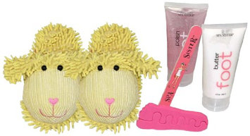 Bath Accessories Just for Fun Spa Slipper Set