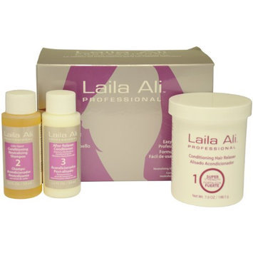 Super Strength Conditioning Hair Relaxer Kit by Laila Ali for Unisex Set