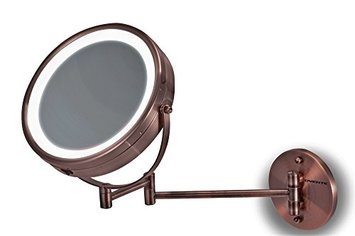 Ovente LED Surround Lighted Wall Mount Vanity Mirror