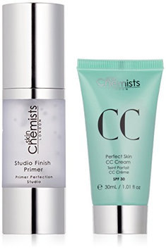 skinChemists Perfect Skin CC Medium Cream with SPF 30 and Studio Finish Primer