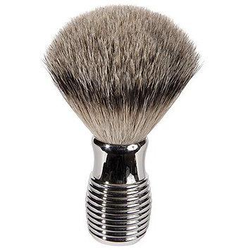 Harry D Koenig & Co Badger Bristle Shave Brush with Nickel Handle for Men