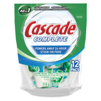 Cascade Complete Pacs Dishwasher Detergent - Regular, 12 ct