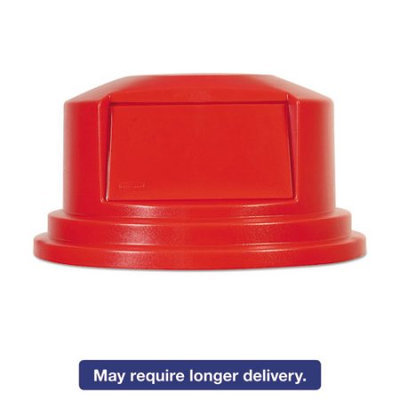 Box Partners RUB127D 55 Gallon Brute Container Domed Lid Red