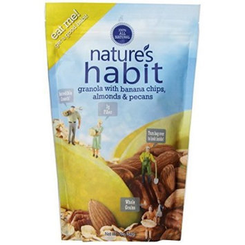 Nature's Habit All Natural Granola Banana Chips, Almonds & Pecans 12 oz