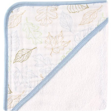 Baby Vision Touched by Nature Organic Muslin Hooded Towel - Boy Leaves