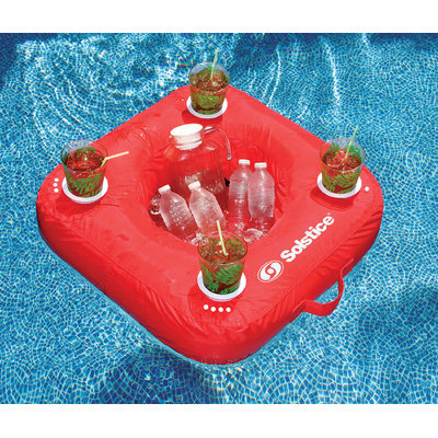 Solstice 15050R SunSoft Inflatable Drink Caddy / Red