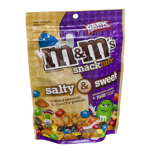 M&M'S® Chocolate Candies Snack Mix Salt & Sweet Dark Chocolate