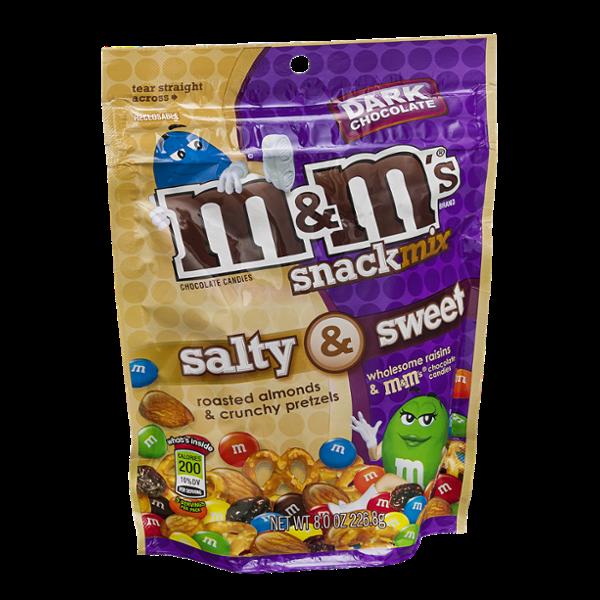 M & M's Chocolate Candies Snack Mix Salt & Sweet Dark Chocolate