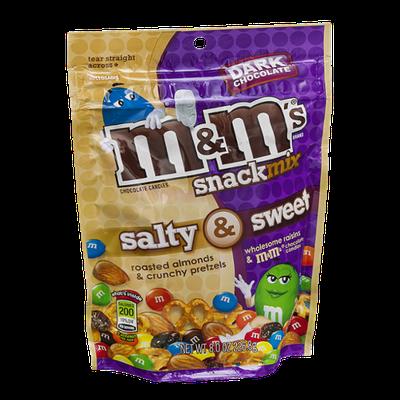 M&M'S® Chocolate Candies Snack Mix Salt & Sweet Dark Chocolate