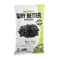 Simply Sprouted Way Better Snacks Simply Beyond Black Bean Tortilla Chips
