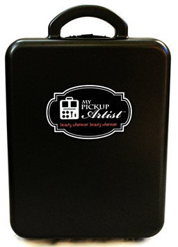 My Pick Up Artist Classic Case - Compact Portable Beauty & Make-Up Organizer for Travel - Holds Up to 30 Pieces - Raven Black