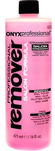 Onyx Professional Salon Strength Strawberry Scented Nail Polish Remover