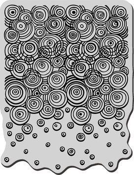 Stampendous 477403 Stampendous Cling Rubber Stamp-Geo Bubbles