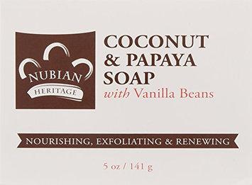 Bar Soap Coconut & Papaya Soap 5 oz By Nubian Heritage