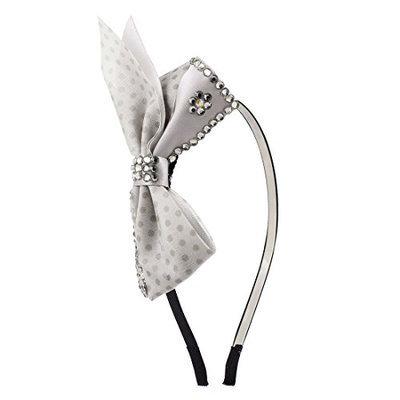 Uxcell Glittery Rhinestones Detail Bowknot Lady Headband Hair Hoop
