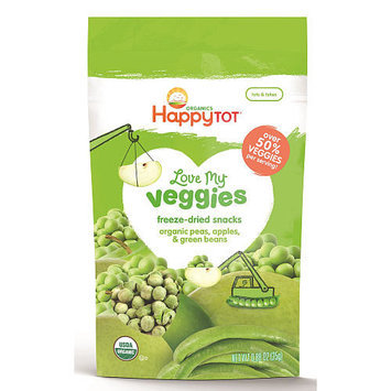 Happy Baby Happy Tot Love My Veggies Peas, Apples and Green Beans Organic Freeze-Dried Snacks - 0.88 Ounce