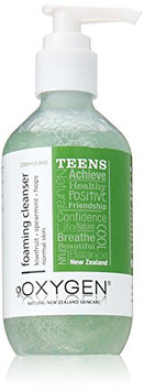 Oxygen Teen Foaming Facial Cleanser for Oily Skin