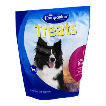 Companion Wavy Strips Dog Treats Bacon Flavor