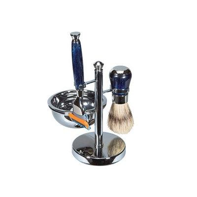 Harry D Koenig Fusion Blade Shave Set with Soap Chrome Handles