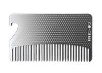 go-comb Bottle Opener Edition - Premium Wallet Comb - Fine Tooth Stainless Steel