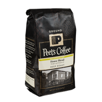 Peet's Coffee Decaffeinated House Blend Deep Roast Ground Coffee