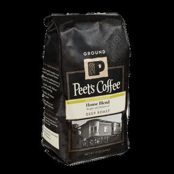 Peet's Coffee Decaffeinated House Blend Deep Roast Ground Coffee