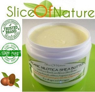 Slice Of Nature Shea Butter Organic USDA Certified Rare Nilotica East African Shea Butter Raw Unrefined Pure use for Face Hair Body make Shea Body Butter Lotion Soap DIY Cream 8 ounces