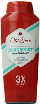 Old Spice High Endurance Pure Sport Scent Men's Body Wash 18 Fl Oz (Pack of 6)