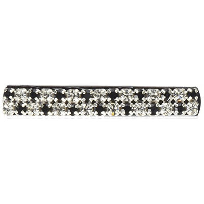 Caravan Med Automatic Barrette with Jet Crystal Swarovski Stone