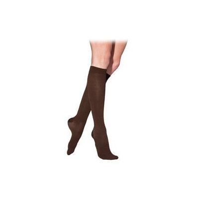 Sigvaris Cotton 232CXSW99-S 20-30 mmHg Womens With Grip Top Socks Black - Extra Large Short