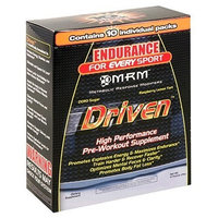 MRM Driven High Performance Pre-Workout Supplement, Raspberry Lemon Tart , Individual Packets (Pack of 10)