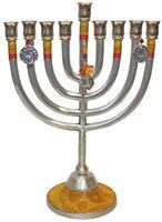 Artsy Casa Lamp Lighters Ultimate Judaica Menorah Metal Classic Design - Gold - 11W X 8H