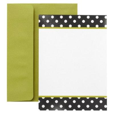 Hortense B. Hewitt Dots Invitation Cards - Black/White (30 Counts)