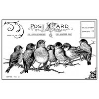 Cam Consumer Products, Inc. Crafty Individuals Unmounted Rubber Stamp Seven Cheeky Songbirds