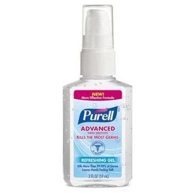 PURELL Advanced Hand Sanitizer Refreshing Gel 2 Oz Pump Bottle, For hands on the go