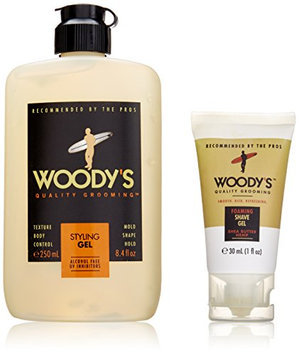 Woody's Peace Love and Shampoo 2 Piece Set for Men (Foaming Shave Gel
