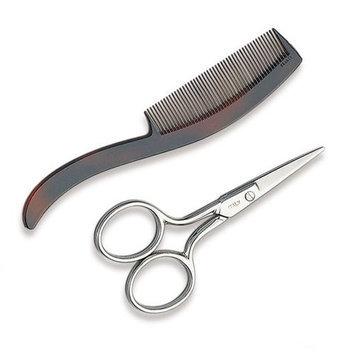 Ultra 3 1/2 Inch Mustache Scissors and Comb
