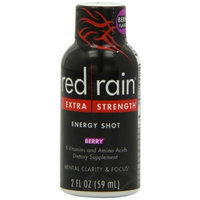 Red Rain Energy Shot, Extra Strength, Berry Flavor, 2-Ounce Bottles (Pack of 12)