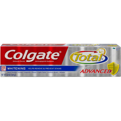 Colgate Total Anticavity Fluoride and Antigingivitis Toothpaste Gel Whitening